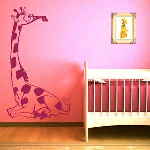 KIDS ROOM GIRAFFE wall sticker art decal graphic cartoon animal