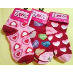 Valentines Day Gifts Socks Set of 3)size 4 6 Baby