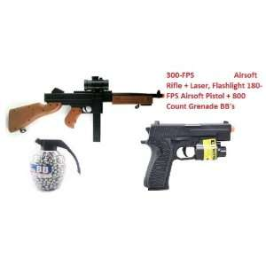 Full Scale 11 RED DOT Rifle 300 FPS Spring Airsoft Submachine Airsoft