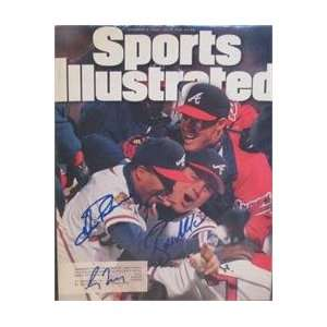 Ryan Klesko, Luis Polonia & Greg Maddux autographed Sports Illustrated