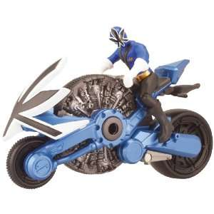 Power Ranger Samurai Blue Cycle with 4 Action Figure