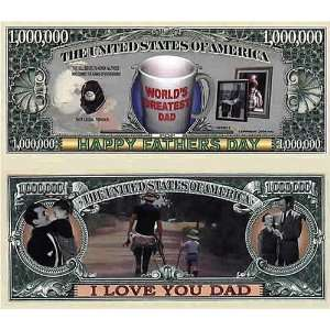 Set of 100 Fathers Day One Million Dollar Bill Toys