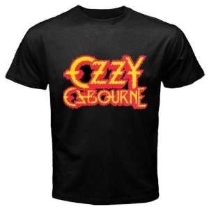 Ozzy Osbourne Band Music Black Color T Shirt Logo Free V