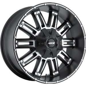 17x9 MKW M80 (Satin Black w/ Machined Face) Wheels/Rims 5x114.3 (M80