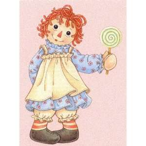 Raggedy Ann with Lollipop Gift Enclosure Card Gift Cards