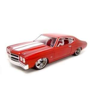 1970 CHEVY CHEVELLE SS454 RED WHIPS 118 DIECAST MODEL