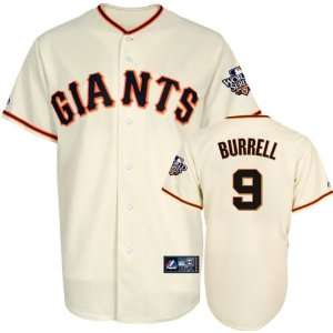 Pat Burrell Youth Jersey San Francisco Giants #9 Home Youth Replica