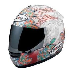 Suomy Spec 1R Extreme Helmet , Size 3XL, Color White, Style Flowers