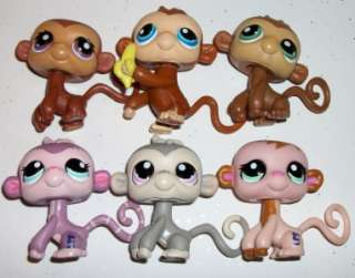 MONKEY LOT~56 57 1671 1644 1029 MOVEABLE~Littlest Pet Shop Q11