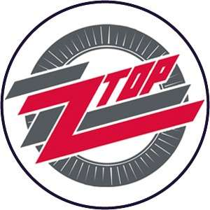 Button Pin Badge ZZ Top Round Logo