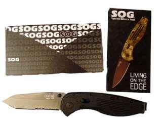 SOG AEGIS KNIFE ZYTEL TiNi TANTO SERR AE04 AE 04 NEW