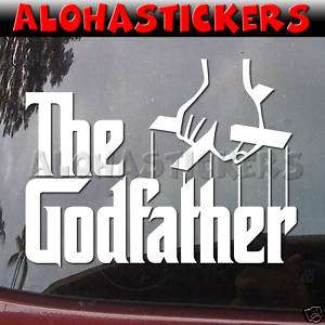 THE GODFATHER Vinyl Decal Car Window Mafia Sticker M239