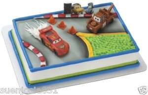 Disney Pixar Cars Cake Decoration Kit Set Decoset
