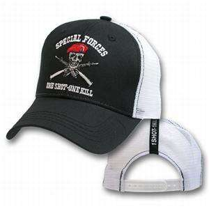 ONE SHOT,ONE KILL,ARMY,MARINES,TRUCKER,MESH HAT,CAP