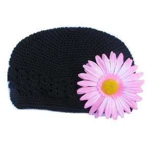 Size 2 My Little Noggin black Crochet beanie Kufi Hat