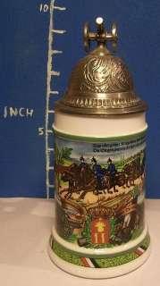 Antique German Lidded Beer Stein #9