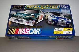 SCALEXTRIC 1/32 SLOT CAR SET NASCAR TRI OVAL #1234