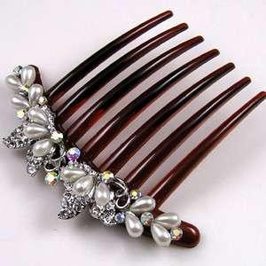 ADDL Item  1 pc rhinestone crystal French twist hair