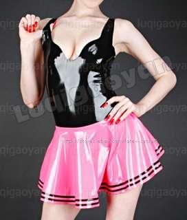 100% Latex Rubber Gummi Dress Skirt Catsuit Suit Zentai Clothing Wear