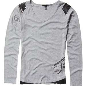 Fox Racing Star Top Girls Long Sleeve Casual Wear Shirt   Heather Grey