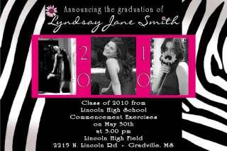 Custom Graduation Announcement Invitations Zebra UPRINT