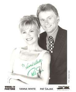 VANNA WHITE & PAT SAJAK: WHEEL OF FORTUNE Autographed