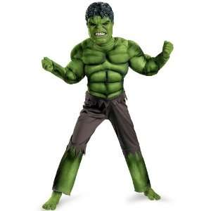 Avengers Hulk Avengers Classic Muscle Costume, Green/Brown