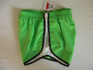 NIKE FitDry Running Athletic Shorts w/Built In Briefs L (12 14) Green