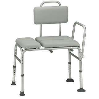 NEW Drive Medical Padded Seat Transfer Bench Aluminum