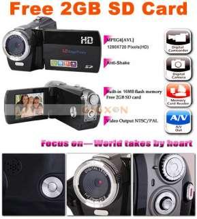 NEW HD 1280X720p DIGITAL VIDEO CAMCORDER & CAMERA+2GB