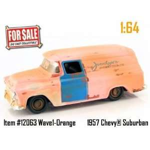 Orange 1957 Chevy Suburban 164 Scale Die Cast Truck Car Toys & Games