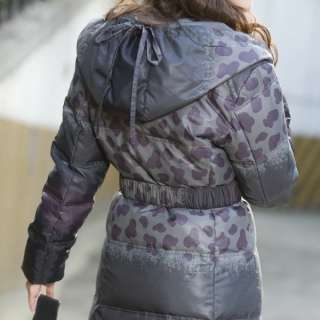 Womens Winter Down Coat Jacket Feather Dress SIZE M L XL