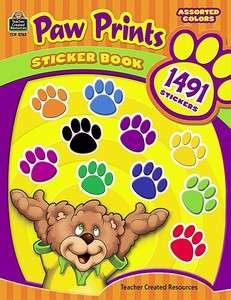 PAW PRINTS STICKER BOOK 1,491 STICKERS TCR 5763 BRAND NEW