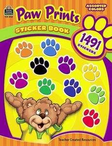 PAW PRINTS STICKER BOOK 1,491 STICKERS TCR 5763 BRAND NEW