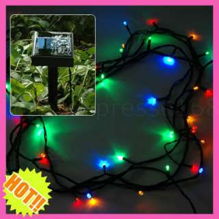 16M 52.5ft 100 LED Solar Multicolour String Lights Christmas Xmas