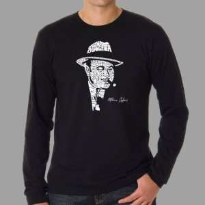 Mens Black Al Capone Long Sleeve Shirt Small   Al Capone