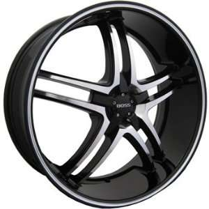 Boss 340 20x8.5 Black Wheel / Rim 5x120 with a 38mm Offset and a 82.80