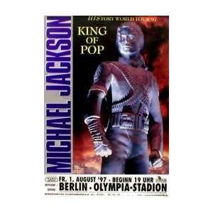MICHAEL JACKSON History Tour 1997 Music Poster