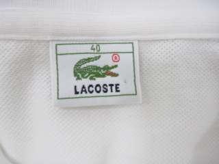 LOT 2 LACOSTE MICHAEL STARS White Green Shirts Sz 40 OS