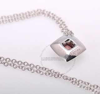 Asprey 18K White Gold Diamond Light Pink Tourmaline Necklace