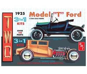 AMT 1925 MODEL T FORD 3 N 1 1/25 MODEL KIT NEW 626