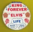 Elvis Presley 1956 flasher pinback button badge dd