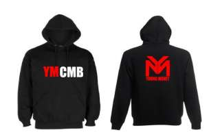 RED WHITE YMCMB YOUNG MONEY LOGO Hoodie NEW DESIGN 2012 FREE UK