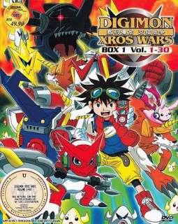 Anime Digimon Xros Wars (TV 1   54end) 2 Box DVD