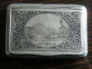 Antique ottoman Silver Niello Cigarette Case van 1800