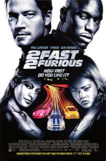 FAST AND FURIOUS 2   D/S 27x40 movie poster EVA MENDES