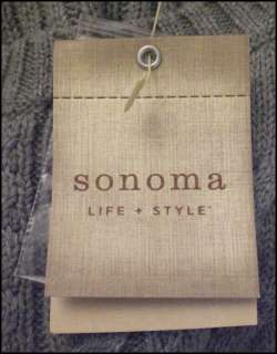 Light Gray Cable Knit Sweater Sonoma Womens Medium NWT NEW