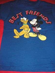 XXS blue Pluto & Mickey Best Friends Tee NWT Disney