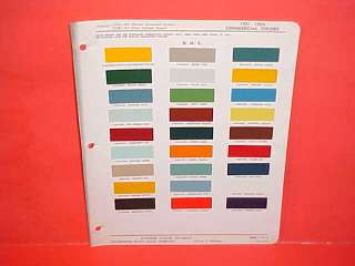 1951 1952 1953 1954 GMC TRUCK PAINT CHIPS COLOR CHART BROCHURE 51 52