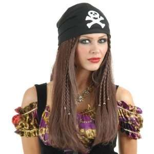 Sexy Womens Pirate Costume Wig Toys & Games